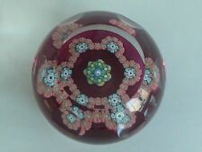 "RARE Perthshire PP32 1985 LE Letter ""Q"" Small Ruby Paperweight EC 10 Facets"