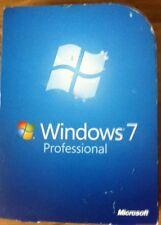 Microsoft Windows 7 professionnel système d'exploitation 32/64 Bits Complet Véritable