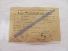 Kleiner Wehrmachtfahrschein,Teil 2,Oberwiesenthal - Landrecies, Einh 46571, 1944