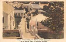ST. GEORGES, BERMUDA, WALK FROM THE HOTEL TO THE TOWN OVERVIEW, c. 1910-20's