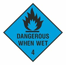 1x DANGEROUS WHEN WET Warning Danger Vinyl Sticker for Floor Home Work Store