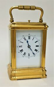 A miniature repeating carriage clock by Drocourt in a real gorge case.