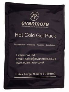 Extra Large Reusable Hot Cold Gel Pack Ice Back Backache Waist Stomach 26 x 36cm