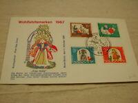 1967 Germany Wohlfahrtsmarken Frau Holle F.D.C CPL