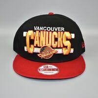Vancouver Canucks New Era 9FIFTY Vintage Hockey Split Bar Snapback Cap Hat