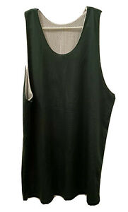 Athletic Mens XL Mesh Reversible Classic Basketball Jersey Green White No Tags