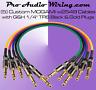 MOGAMI 2549 3.5ft. Multi-Color TRS Black & Gold Studio Patch Cables (5)