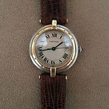 Cartier Vendome Solid 18K Gold & SS Unisex Quartz Watch