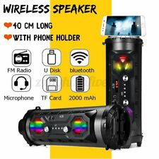 LED Wireless Portable bluetooth Speaker Stereo Super Bass HIFI AUX FM Loud US❤