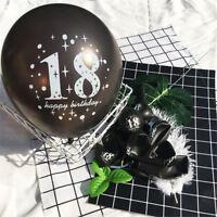18th Happy Birthday Star Latex Balloon Birthday Party Adult Ceremony Decor TK