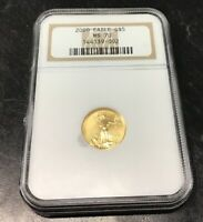 2000 $5 Gold Eagle MS70 NGC SLABBED 1/10 Oz Gold