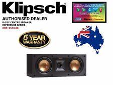 Klipsch R-25C Centre Speaker. 100 Watts RMS / 400 Watts Peak. RRP: $510
