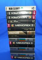 Lot of 15) VHS Tapes PreRecorded Content Sold As Used Blanks + Head Cleaner