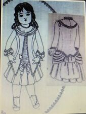 "Antique French 16"" Bru doll Frock And Jacket Pattern"