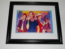 Large Framed Rock Legends Paul McCartney, Bob Dylan, Mick Jagger, Pete Townshend