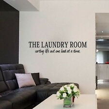 Wall Sticker Decal Quote Vinyl Art Lettering The Laundry Room Life Time