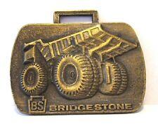 *Bridgestone Tire Company Ltd Dump Truck Pocket Watch Fob BS Construction Hauler