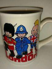 Fun London Coffee Mug Palace Guard Policeman Punk Rocker English Ironstone Table