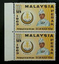 Malaysia Installation Of SultanPerak Royal 1963 (stamp) MNH *Error Perf *Rare