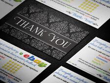 250 PROFESSIONAL Thank You ebay Seller BUSINESS CARDS 5 Five Star Rating ELEGANT
