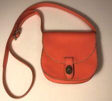 Fossil Peach/Pink Leather Crossbody, Flap Bag, EUC