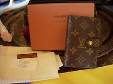 Authentic LOUIS VUITTON Agenda Cover Portfolio Organizer Wallet SHARP w/Box LV