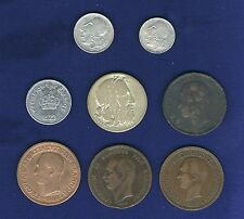 GREECE 1869-BB (2), 1882-A (2), 1922 10 LEPTA, 1930 20 DRACHMAI, Lot of 8 COINS