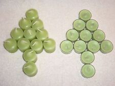 Partylite Lemon Lime Macaroon Votives and Tealight Lot --  RETIRED