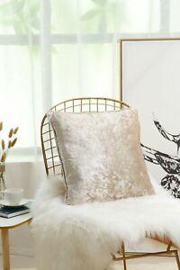 Luxury Crushed Velvet Cushion Covers 60 x 60 cm, 24 x 24 inches Cream