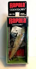 "Vintage (Ireland) Rapala 2-3/4"" CD-7 TR (Trout) Sinking Countdown Fishing Lure"