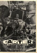 28/12/91 Pgn21 Advert: rubbish From Carter The Unstoppable Sex Machine 15x11