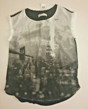 BNWT ABERCROMBIE & FITCH BLACK / WHITE RELAXED CREPE TEE SIZE M