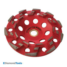 "5"" Aggressive Grinding Wheels 7/8""-5/8"" Arbor #20/25 Grit for Concrete Epoxy"