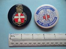 Vintage Metal Pin Badges x 2 - Boys Brigade 1983 Centenary & Girls Brigade