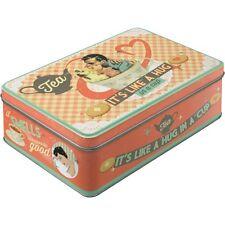 Scatola in Latta richiudibile contenitore Tea It's Like A Hug in a Cup