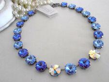 Anna Wintour Swarovski Necklace Sapphire Collet Multi Crystal Rivoli Choker