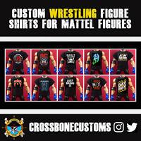 Custom Wrestling WWE Wrestling Figure Shirts For Mattel Figures