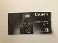 Original Canon Speedlite 177A Instruction Manual