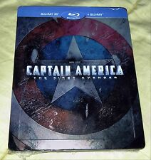 New Marvel Captain America First Avenger Blu-ray 3D+2D Steelbook™ Poland