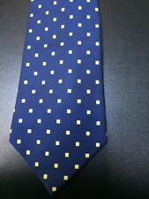 Turnbull & Asser 100% Silk Tie Blue Yellow Squares
