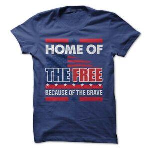 America T-Shirt America July 4th 1776 Patriotic Shirt USA Tee - Home Of Brave
