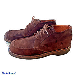 Mens Sz 10.5 Chukka Boots Made In Brazil Brown Suede Leather Thick Gum Sole