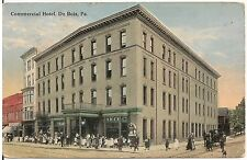 Commercial Hotel in DuBois PA Postcard 1916