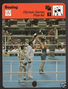 Yong-Jo Gu vs Patrick Cowdell 1976 Olympic Boxing 1979 SPORTSCASTER CARD 64-23