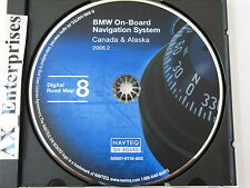 BMW 3 5 7 Series M5 X5 Z8 Navigation CD 602 Update © 2006.2 Map 8 CANADA ALASKA