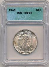 1945 Half ICG 65 Toned
