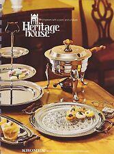 1977 VINTAGE CATALOG #1832 - HERITAGE HOUSE - KROMEX - SERVINGWARE