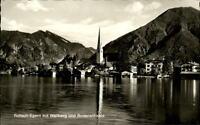 Rottach Egern Ansichtskarte 1969 Teilansicht mit Wallberg Bodenschneid Kirchturm