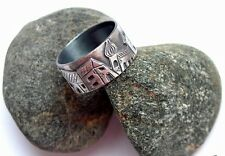 UNIQUE HAND MADE RING * SWEET HOME * STERLING SILVER 925 ARTISAN JEWELLERY