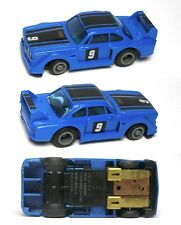 1980 Ideal TCR BMW 328ish RARE Blue & Black #9 Slot Car MK3 Chassis Very Rare!
